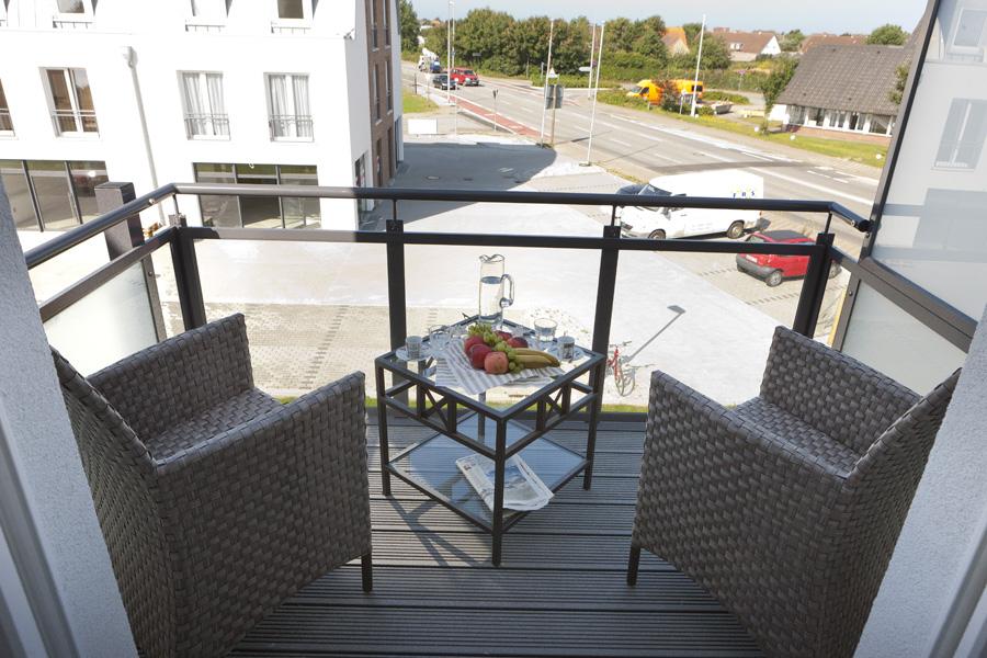 Balkon Blick auf Westerland